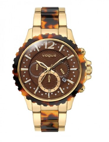 kotsoniskosmimata vogue wild chrono resin gold stainless steel 97012 1